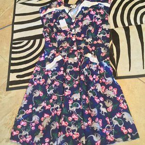 Unique Vintage dinosaur dress 4xl New(3x)
